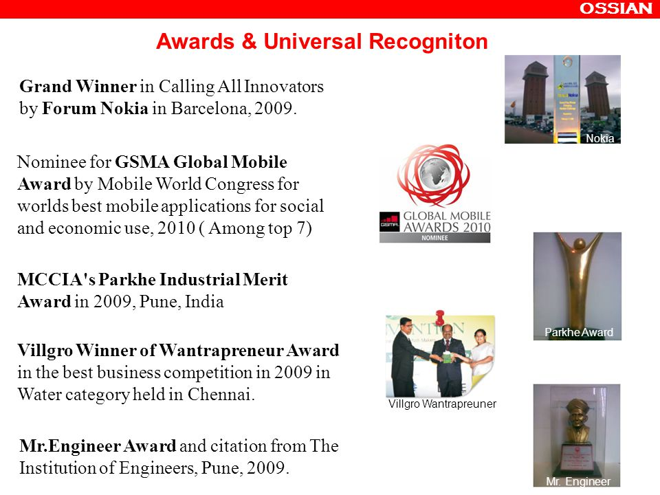 Awards & Universal Recogniton