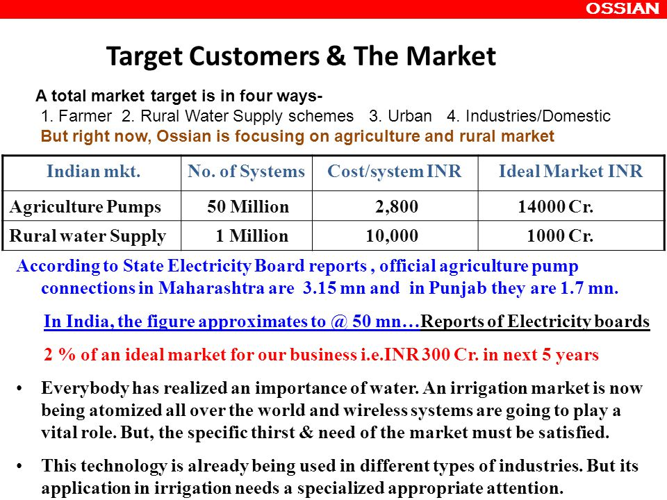 Target Customers & The Market