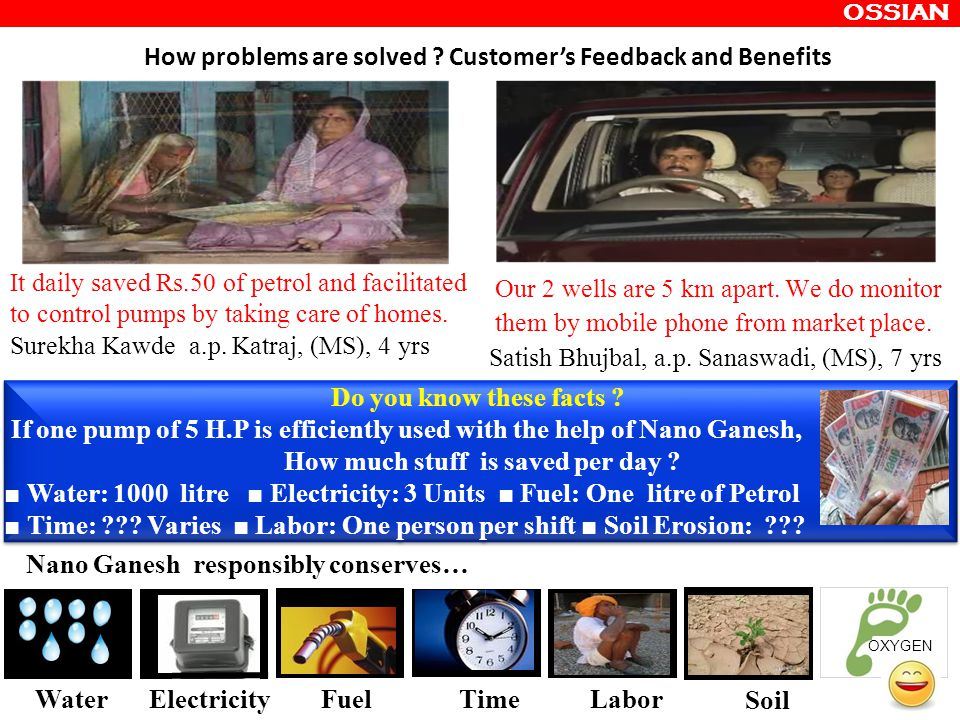 How problems are solved Customer's Feedback and Benefits