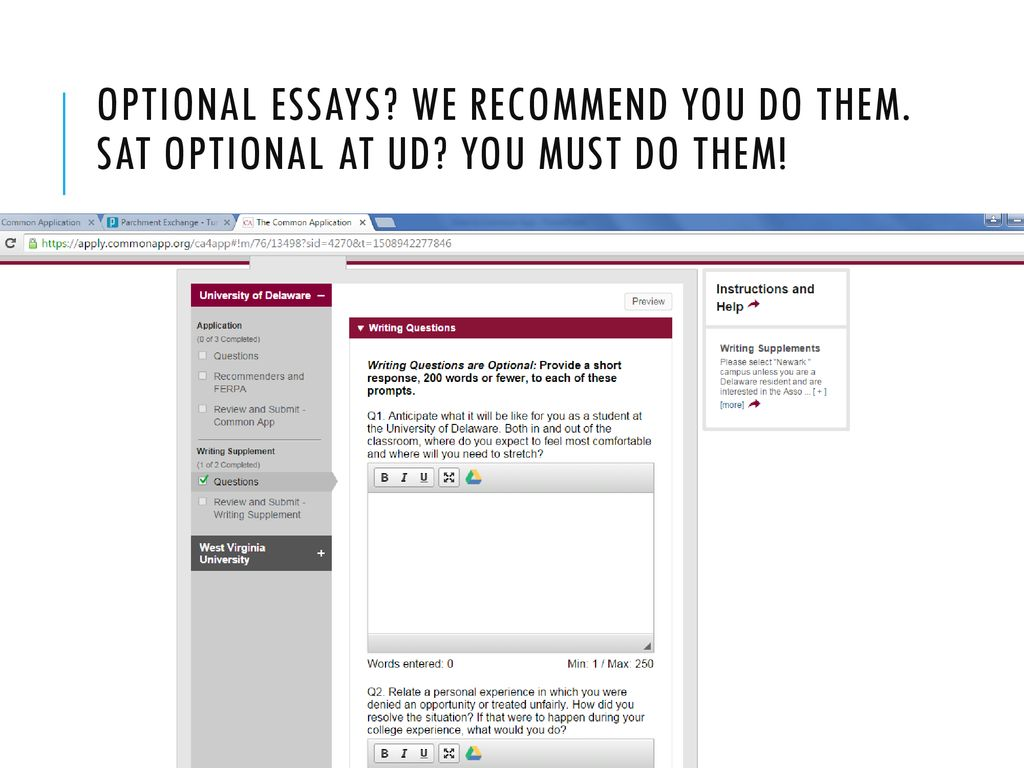 Should you submit an essay for college if optional