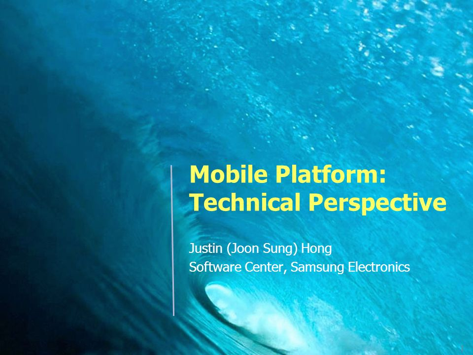 Mobile Platform: Technical Perspective
