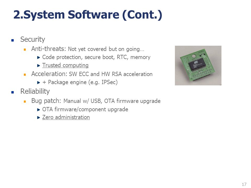 2.System Software (Cont.)