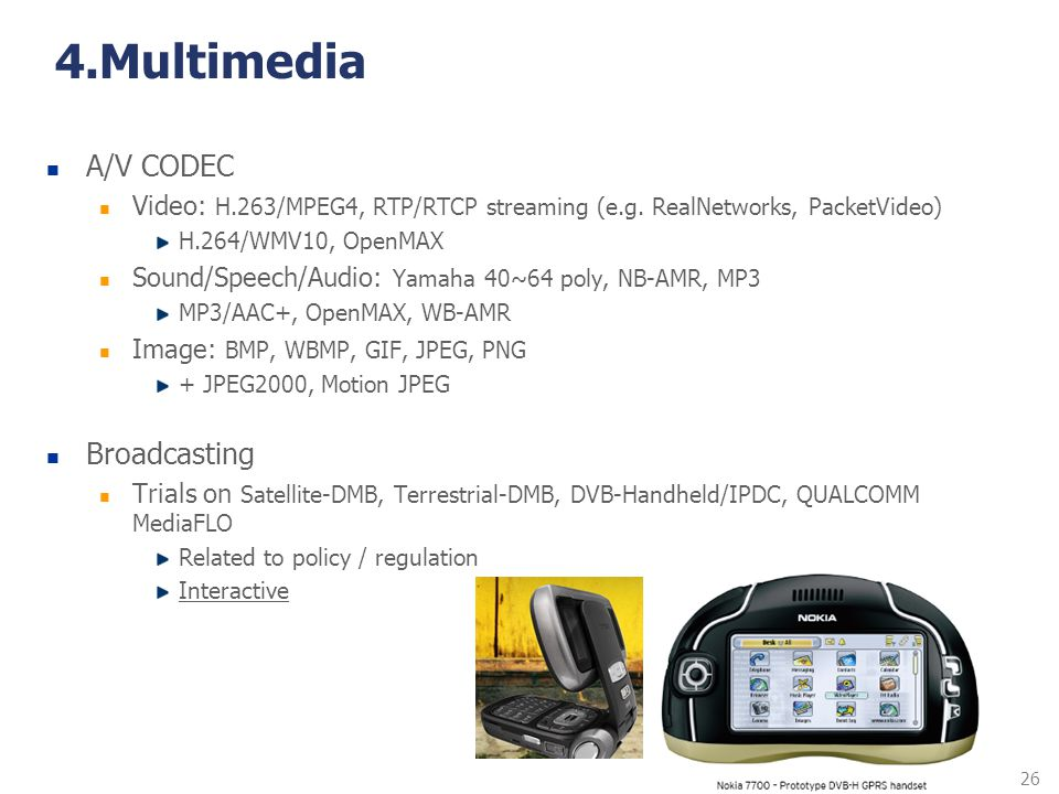 4.Multimedia A/V CODEC Broadcasting