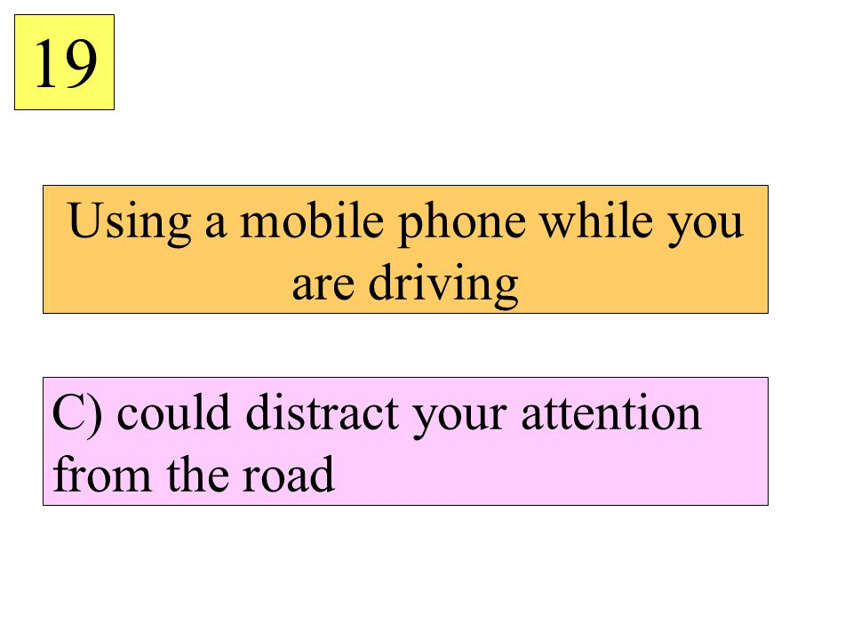 Using a mobile phone while you are driving