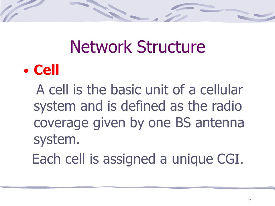 Network Structure Cell
