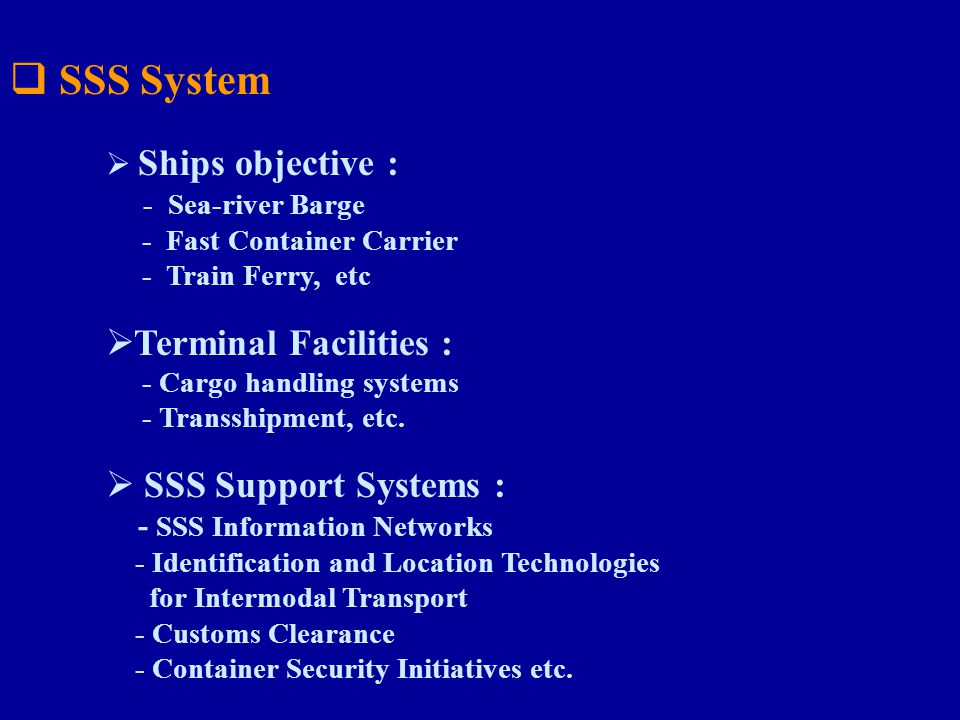 SSS System Terminal Facilities : SSS Support Systems :