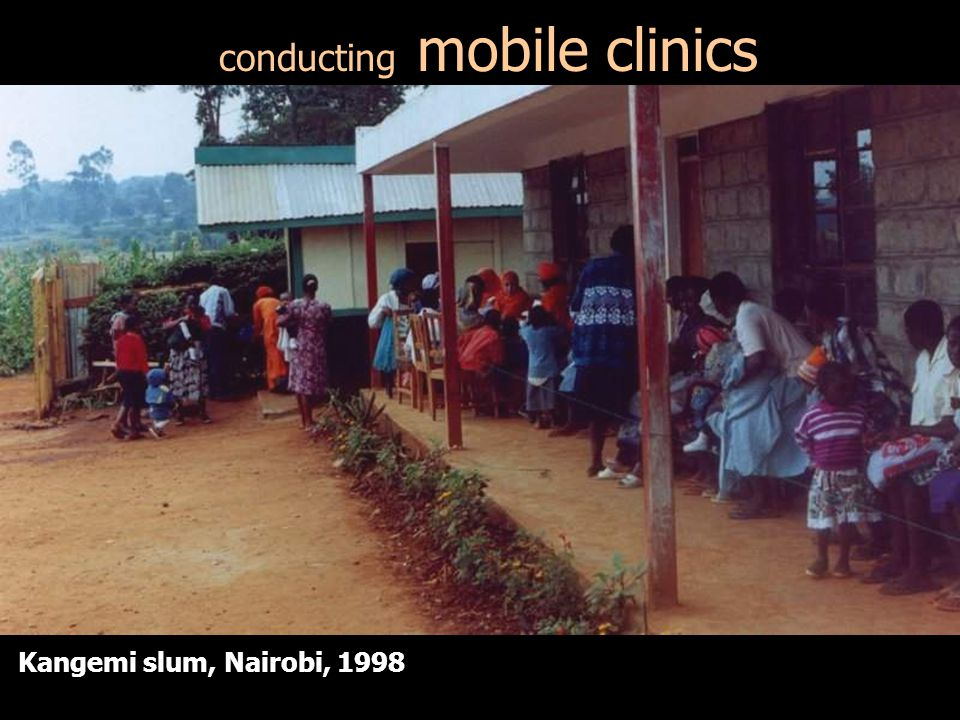 conducting mobile clinics