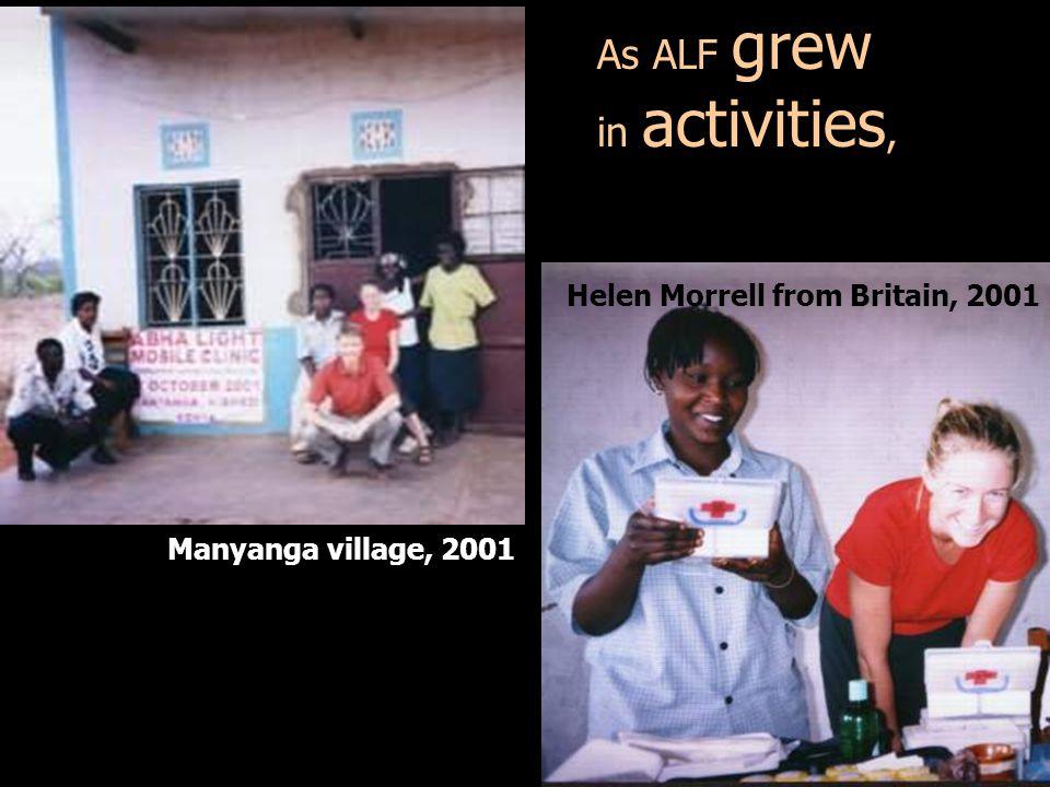 As ALF grew in activities,