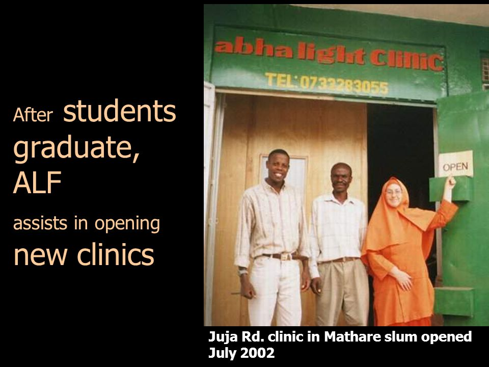 After students graduate, ALF assists in opening new clinics