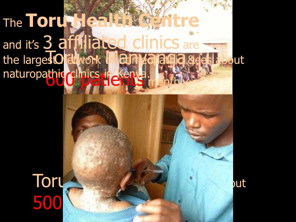 Toru ~ Manyanga sees about 600 patients monthly
