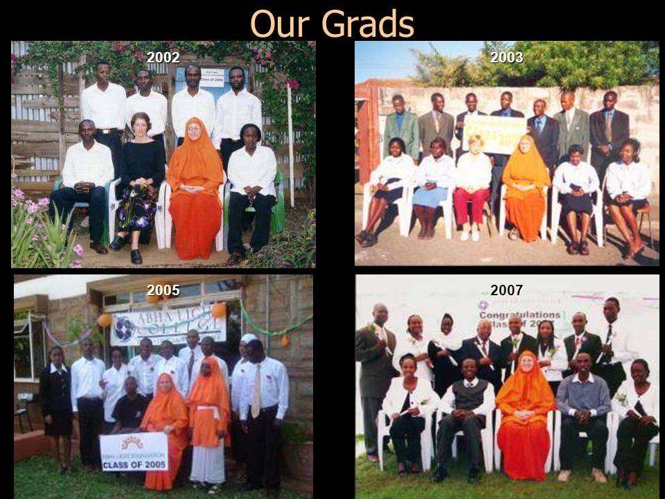 Our Grads 2002 2003 2005 2007