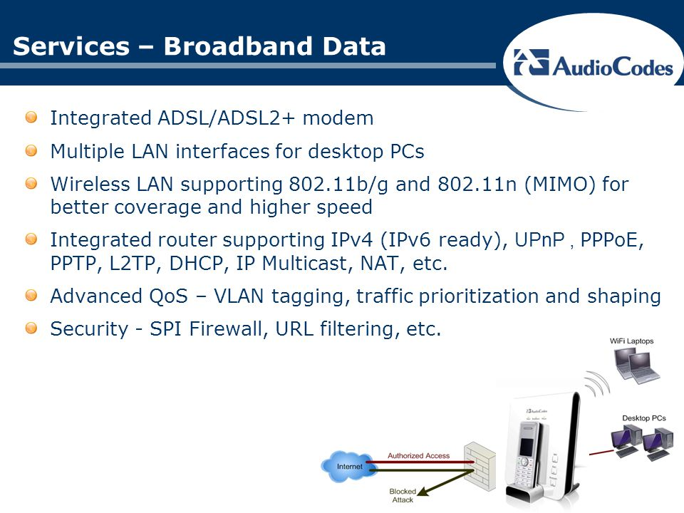 Services – Broadband Data