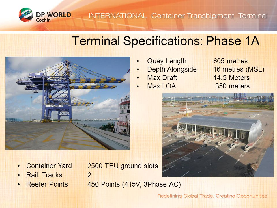 Terminal Specifications: Phase 1A