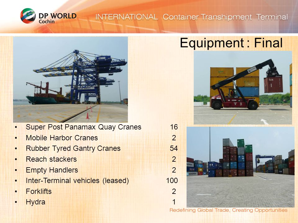 Equipment : Final Super Post Panamax Quay Cranes 16