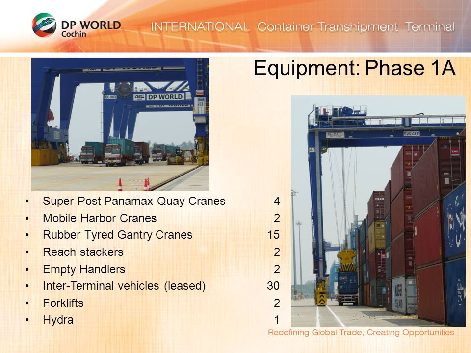 Equipment: Phase 1A Super Post Panamax Quay Cranes 4