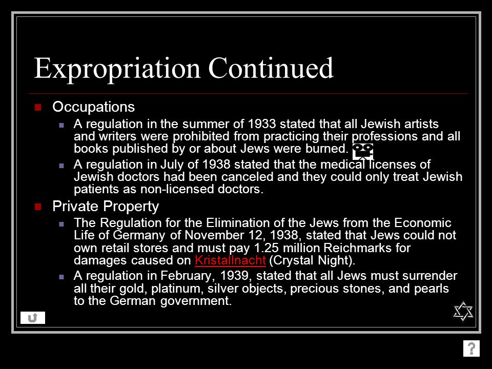 Expropriation Continued