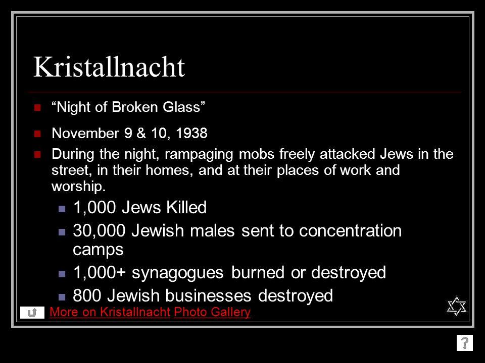 Kristallnacht 1,000 Jews Killed