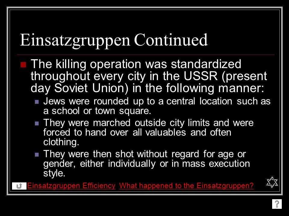 Einsatzgruppen Continued
