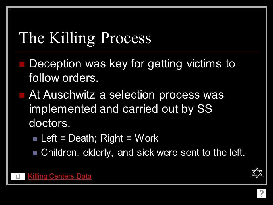 The Killing Process Deception was key for getting victims to follow orders.