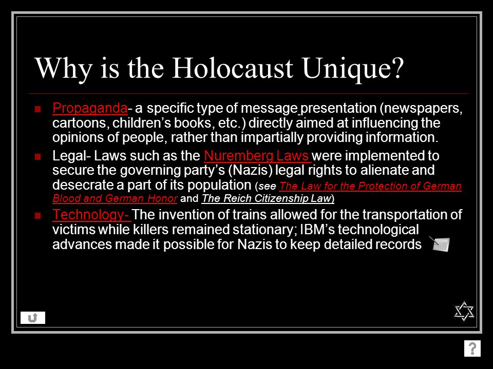 Why is the Holocaust Unique