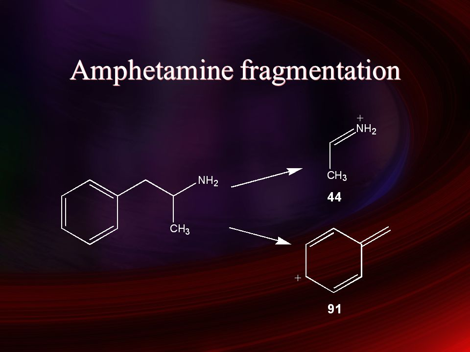 Amphetamine fragmentation