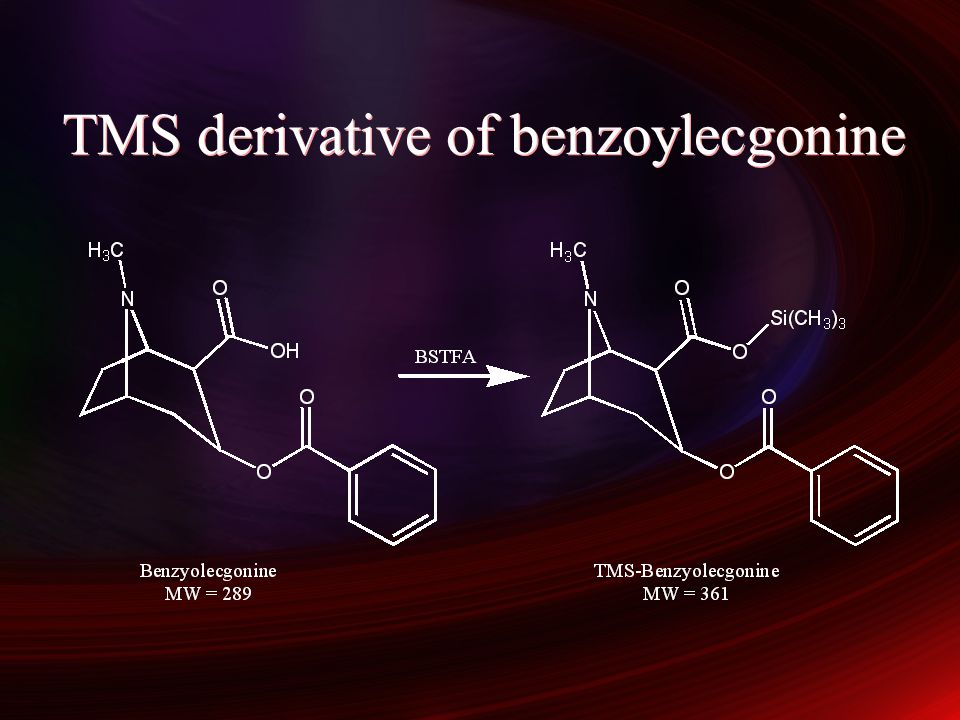 TMS derivative of benzoylecgonine