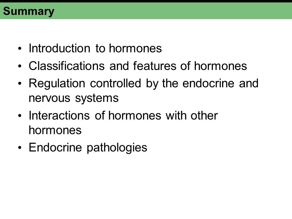 Introduction to hormones Classifications and features of hormones
