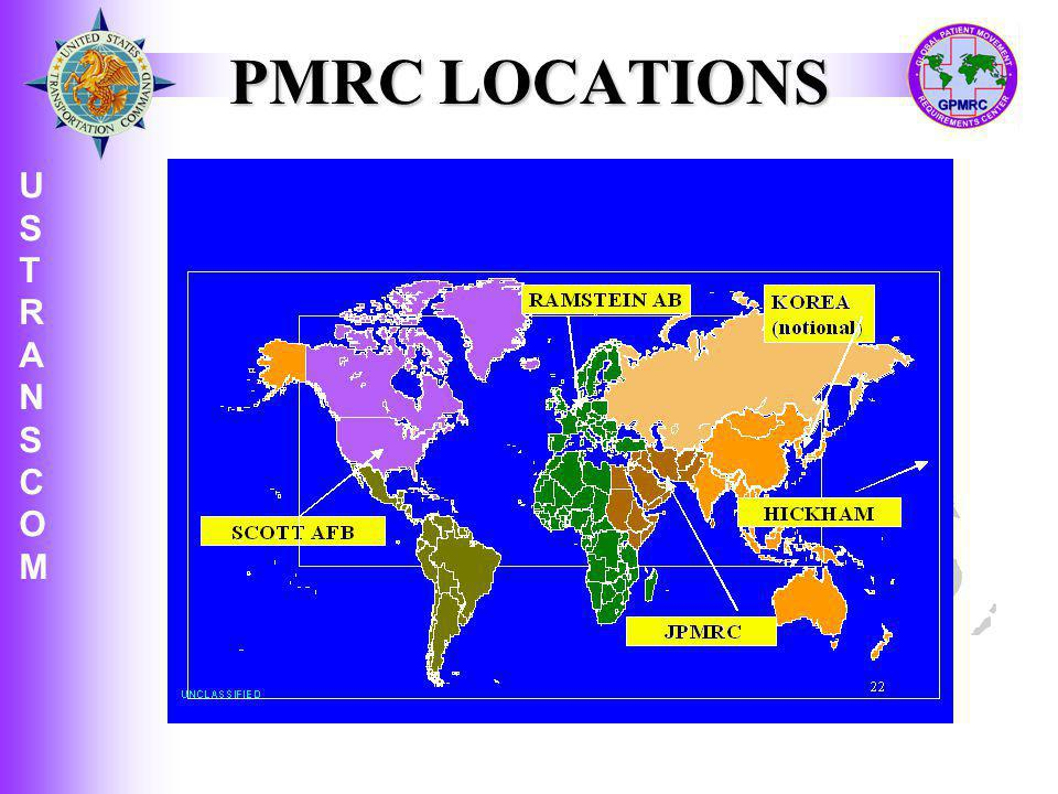 PMRC LOCATIONS PATIENT MOVEMENT REQUIREMENT CENTERS