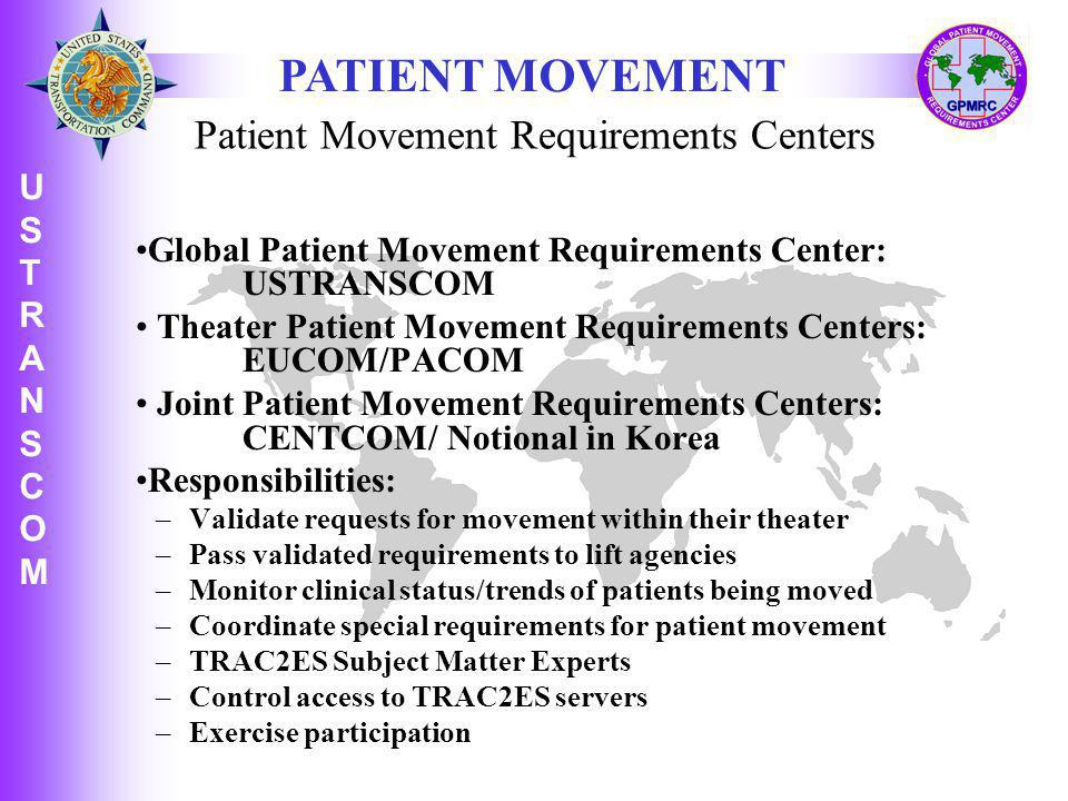 Patient Movement Requirements Centers
