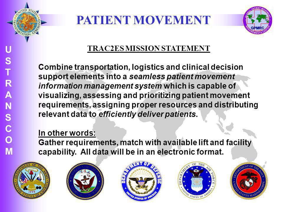TRAC2ES MISSION STATEMENT