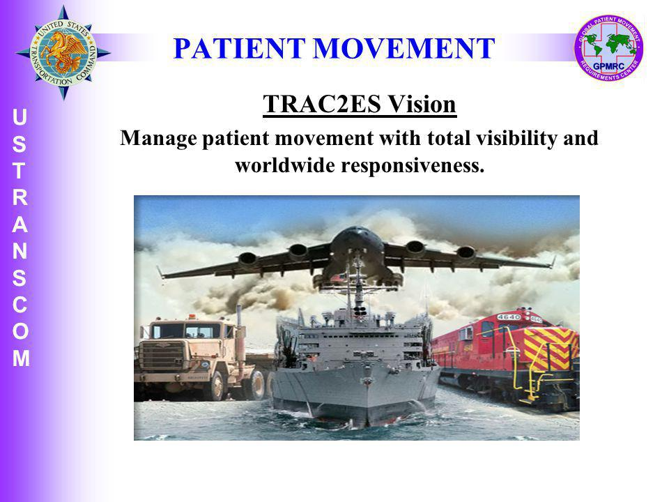 PATIENT MOVEMENT TRAC2ES Vision USTRANSCOM