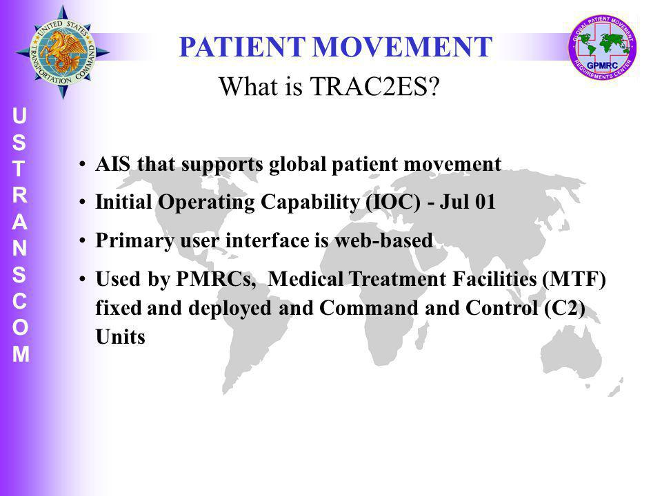 PATIENT MOVEMENT What is TRAC2ES