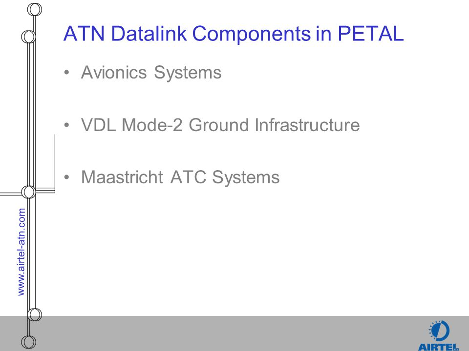 ATN Datalink Components in PETAL