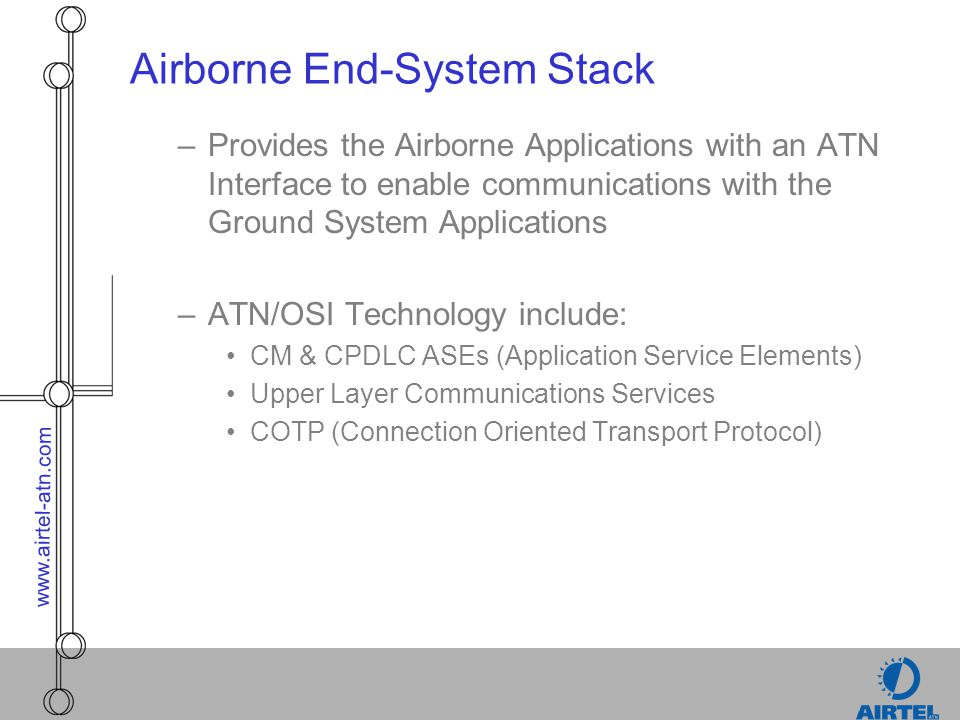 Airborne End-System Stack