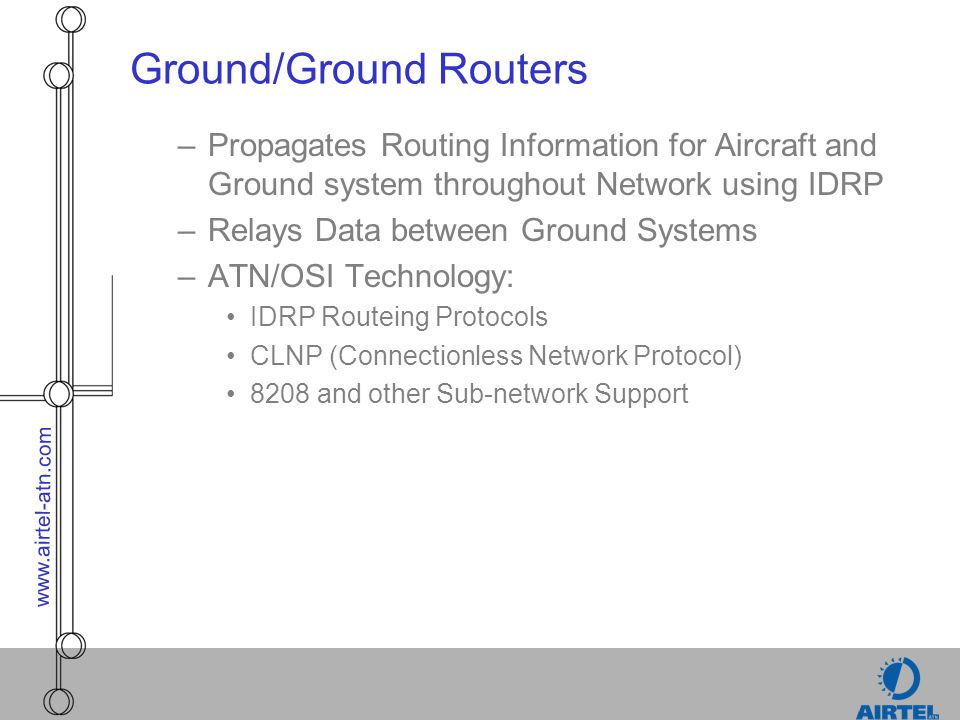 Ground/Ground Routers