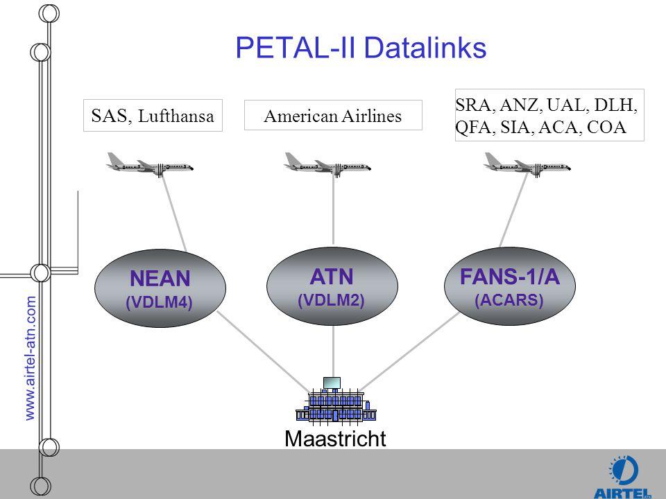PETAL-II Datalinks NEAN ATN FANS-1/A Maastricht SAS, Lufthansa