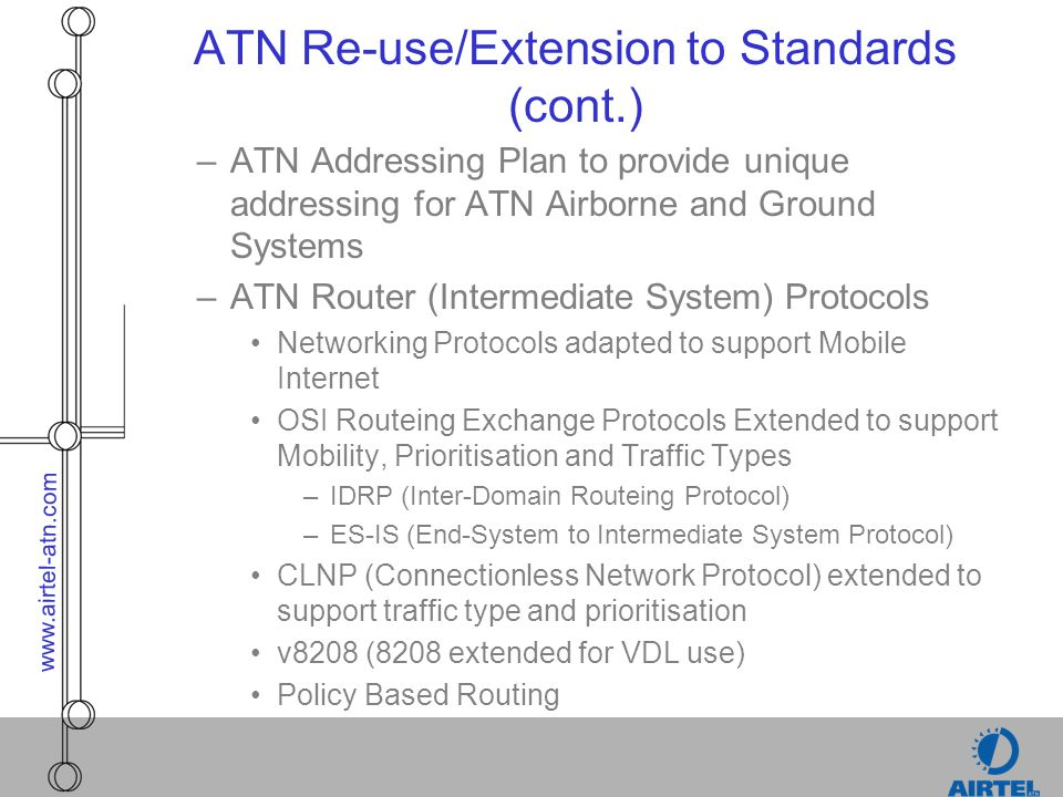 ATN Re-use/Extension to Standards (cont.)