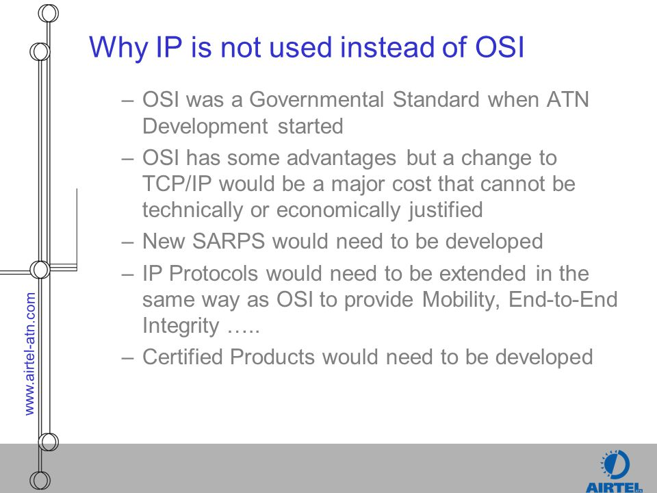Why IP is not used instead of OSI