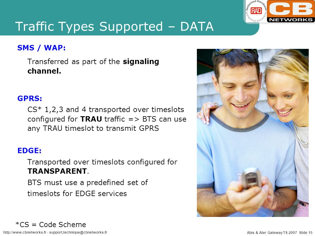 Traffic Types Supported – DATA