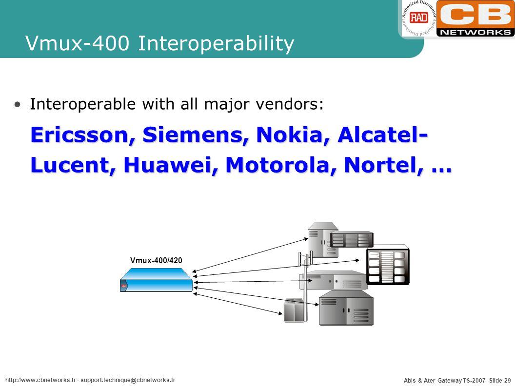 Vmux-400 Interoperability