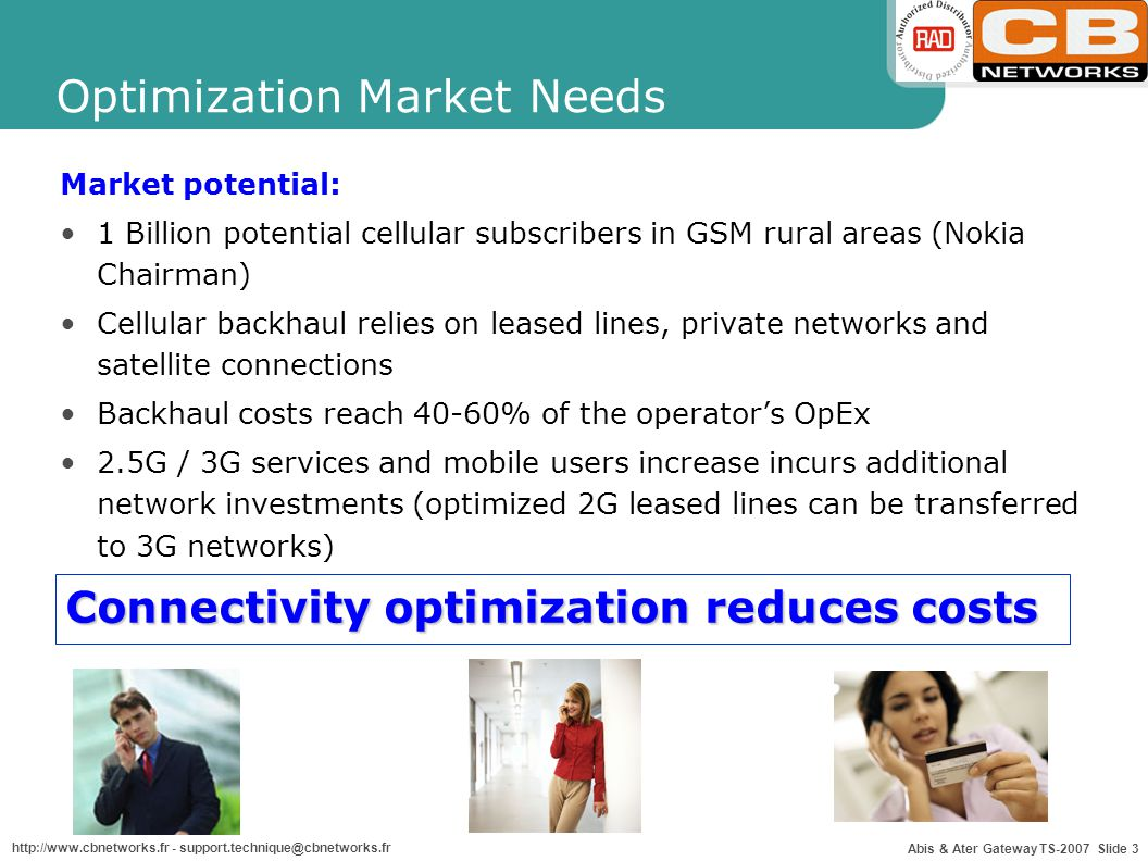Optimization Market Needs
