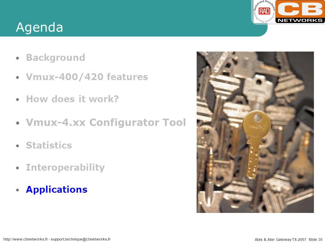 Agenda Vmux-4.xx Configurator Tool Background Vmux-400/420 features