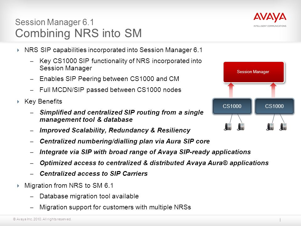 Session Manager 6.1 Combining NRS into SM