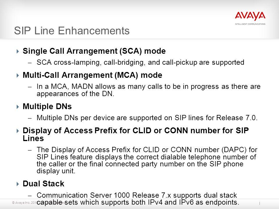 SIP Line Enhancements Single Call Arrangement (SCA) mode