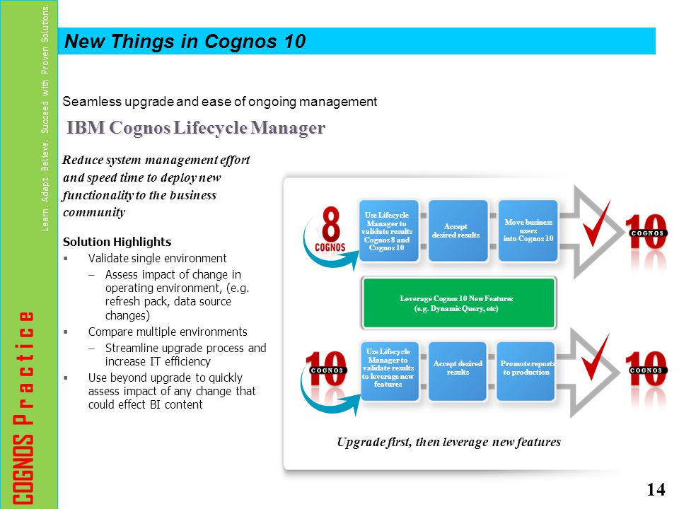 Seamless upgrade and ease of ongoing management