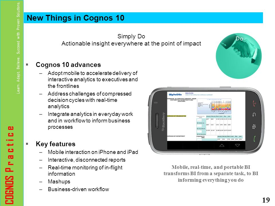 Simply Do Actionable insight everywhere at the point of impact