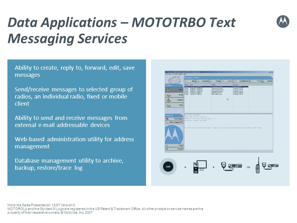 Data Applications – MOTOTRBO Text Messaging Services