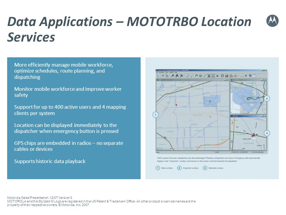 Data Applications – MOTOTRBO Location Services