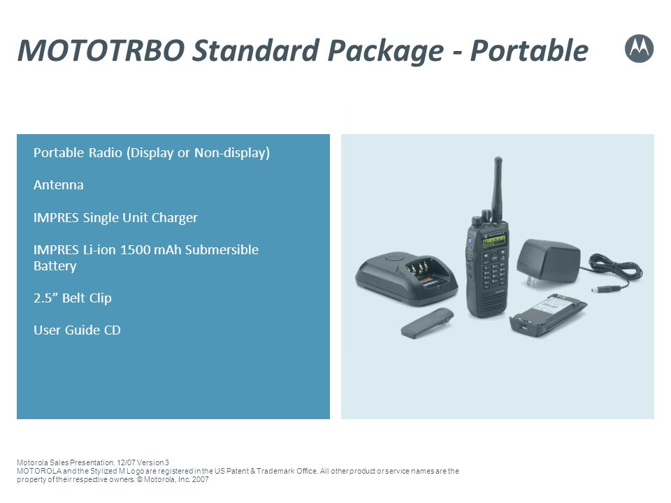 MOTOTRBO Standard Package - Portable