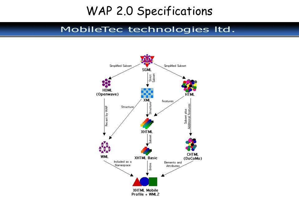 WAP 2.0 Specifications